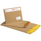 Koperty kartonowe z wsuwanym zamknięciem, brązowy, 265x210mm